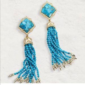 Kendra Scott Turquoise Misha Earrings